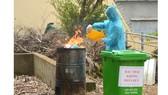 Ban quản lý khu cách ly tập trung xã Bình Minh (huyện Bù Đăng, tỉnh Bình Phước)  xử lý rác thải khu cách ly bằng lò đốt