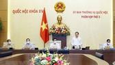 Phó Chủ tịch Quốc hội Nguyễn Khắc Định phát biểu kết luận Phiên họp. Ảnh: TTXVN