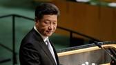 Chủ tịch Trung Quốc Tập Cận Bình trong phiên phát phát biểu tại kỳ họp đại Hội đồng Liên Hợp Quốc. Nguồn ảnh: Associated Press