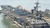 Tàu sân bay USS Carl Vinson. (Nguồn: Kyodo/TTXVN)