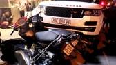 Hiện trường vụ trộm xe Range Rover gây tai nạn liên hoàn.