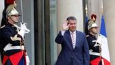 Ngoại trưởng Đức Sigmar Gabriel trong chuyến thăm Pháp, ngày 30/8. (Nguồn: Reuters)