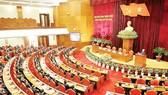 Quang cảnh bế mạc Hội nghị lần thứ sáu Ban Chấp hành Trung ương Đảng Cộng sản Việt Nam khóa XII