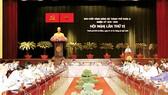 Bí thư Thành ủy TPHCM Nguyễn Thiện Nhân phát biểu tại phiên bế mạc hội nghị Thành ủy