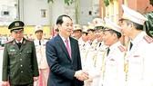 Chủ tịch nước Trần Đại Quang dự Lễ kỷ niệm 65 năm Ngày thành lập Lực lượng Cảnh vệ Công an Nhân dân