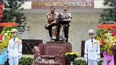 Khánh thành Đài Tưởng niệm Biệt động Thành đánh Đài Phát thanh Sài Gòn. Ảnh: TTXVN