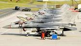 Máy bay F-16 của Mỹ tại căn cứ không quân Spangdahlem, Đức