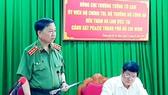 Thượng tướng Tô Lâm, Ủy viên Bộ Chính trị, Bộ trưởng Bộ Công an phát biểu chỉ đạo tại buổi làm việc