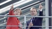 Thủ tướng Đức Angela Merkel và Tổng thống Pháp Emmanuel Macron trong cuộc gặp tại Berlin vào tháng 4-2018