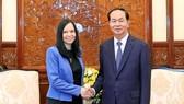 Chủ tịch nước Trần Đại Quang đã tiếp Đại sứ Ba Lan Barbara Szymanowska. Ảnh: TTXVN
