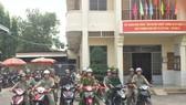 Các thành viên CLBPCTP cùng công an phường xuất phát tuần tra trên địa bàn