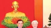 Tổng Bí thư Nguyễn Phú Trọng tiếp đồng chí Saysomphone Phomvihane, Ủy viên Bộ Chính trị, Chủ tịch Ủy ban Trung ương Mặt trận Lào xây dựng đất nước