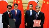 Nhật Bản và Trung Quốc ký hàng loạt thỏa thuận