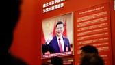 Hình ảnh Chủ tịch Trung Quốc Tập Cận Bình tại Triển lãm cải cách và mở cửa ở Bắc Kinh. Ảnh: CNN