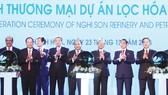 Thủ tướng Nguyễn Xuân Phúc dự Lễ vận hành thương mại Liên hợp Lọc hóa dầu Nghi Sơn  tại Khu Kinh tế Nghi Sơn (Thanh Hóa)