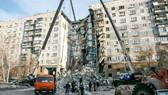 Tòa nhà chung cư tại thành phố Magnitogorsk bị sập một phần sau một vụ nổ khí gas