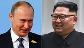 Tổng thống NgaVladimir Putin và nhà lãnh đạo Triều Tiên Kim Jong-un. (Nguồn: Sky News)