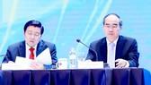 Bí thư Thành ủy TPHCM Nguyễn Thiện Nhân dự Diễn đàn Kinh tế tư nhân Việt Nam 2019    Ảnh: VIẾT CHUNG