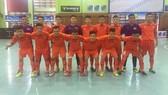 Đội tuyển futsal U.20 Việt Nam chụp ảnh lưu niệm trước trận đấu