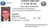 Tấm thẻ hành nghề chuyên nghiệp của ông Emmanuel Macron.