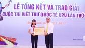 Trao giải cuộc thi Viết thư quốc tế UPU