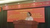 Đồng chí Võ Thị Dung, Phó Bí thư Thành ủy TPHCM phát biểu tại hội nghị