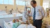 Một bệnh nhân chạy thận tại Bệnh viện Nguyễn Tri phương
