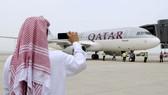 Máy bay của hãng Qatar Airways. Ảnh: REUTERS