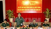 Trung tướng Nguyễn Trọng Nghĩa phát biểu tại buổi họp báo. Ảnh: TTXVN