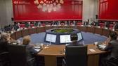 Lãnh đạo các nước TPP họp bàn tại một hội nghị. Ảnh: REUTERS