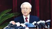 Tổng Bí thư Nguyễn Phú Trọng phát biểu tại hội nghị