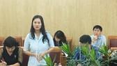 Bà Đoàn Thị Ánh Mai, Giám đốc Trung tâm Văn hóa quận 8, TPHCM phát biểu tại buổi tọa đàm.