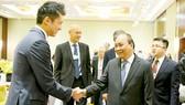 Thủ tướng Nguyễn Xuân Phúc gặp gỡ đại diện các tập đoàn toàn cầu