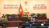 Kỳ họp thứ 9 HĐND thành phố Đà Nẵng khóa IX, nhiệm kỳ 2016-2021. Ảnh: Đài Phát thanh - Truyền hình Đà Nẵng