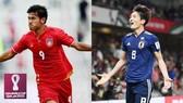 Tuyển Nhật Bản (phải) có khởi đầu thuận lợi bằng chiến thắng 2 - 0 ngay trên sân Myanmar