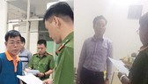 Công an đọc lệnh bắt giữ ông Nam và ông Tùng
