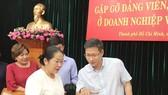 Đồng chí Võ Thị Dung , Phó Bí thư Thành ủy TPHCM trao đổi với các đại biểu tại buổi gặp gỡ. Ảnh: hcmcpv