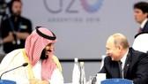 Thái tử Mohammed bin Salman và Tổng thống Nga Vladimir Putin tại Hội nghị Thượng đỉnh G20 ở Argentina năm 2018