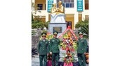 """Quang cảnh lễ khánh thành tượng đài """"Bác Hồ với chiến sĩ biên phòng"""""""
