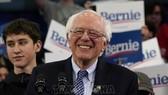 Thượng nghị sĩ bang Vermont, ông Bernie Sanders sau cuộc bầu cử sơ bộ ở bang New Hampshire ngày 11-2-2020. Ảnh: AFP/TTXVN