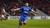 Tiền đạo Ryan Kent ghi bàn thắng vào lưới Braga. Ảnh: Getty Images