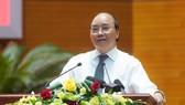Thủ tướng Nguyễn Xuân Phúc: Truyền thông phải góp phần lan tỏa năng lượng tích cực trong xã hội. Ảnh: VGP/Quang Hiếu