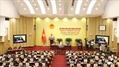 Quang cảnh kỳ họp thứ 15, HĐND TP Hà Nội. Ảnh: TTXVN