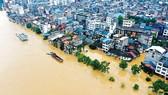Ngập lụt tại khu tự trị dân tộc Choang Quảng Tây, Trung Quốc