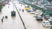 Ngập lụt tại đường cao tốc Delhi-Gurgaon