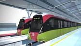 Thiết kế ngoại thất của đoàn tàu đường sắt đô thị Nhổn-ga Hà Nội. Ảnh: Nhân Dân