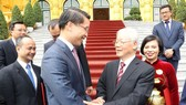 Tổng Bí thư, Chủ tịch nước Nguyễn Phú Trọng với các Đại sứ, Tổng Lãnh sự Việt Nam tại nước ngoài. Ảnh: TXVN