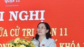 Chủ tịch HĐND TPHCM Nguyễn Thị Lệ trả lời cử tri chiều 19/11