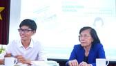 Bà Phạm Phương Thảo tại buổi ra mắt sách Cùng kiến tạo không gian văn hóa