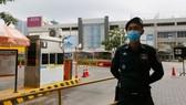 Trung tâm mua sắm AEON 1 ở thủ đô Phnom Penh bị phong tỏa sau khi Campuchia phát hiện ca mắc Covid-19 do lây nhiễm trong cộng đồng hôm 28-11. Ảnh: Khmer Times